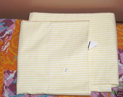 2 Williams Sonoma Oxford Stripe Yellow Pillowcases King