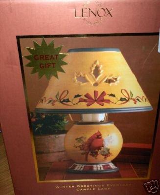 Lenox Winter Greetings Candle Lamp NIB NEW Cardinal