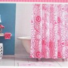 Hearts & Flower Pink Shower Curtain NEW NIP Love Fabric