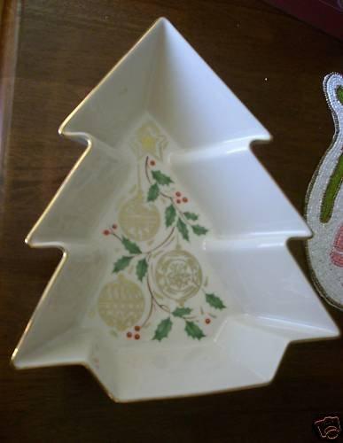 Lenox Christmas Tree Ornament Star Holly Dish Holiday