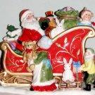 Fitz & Floyd Santa's Sleigh Cookie Jar NEW Christmas