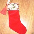 Katha Diddel New York Stocking NEW Birds Tassel Red LE