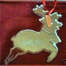 RARE Baccarat 2001 Reindeer Ornament NEW NIB W/Pouch 01