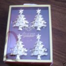 Lenox Napkin Rings Gold Holiday Noel Christmas Tree NEW