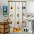 Saturday Knight ANIMAL PATCH Shower Curtain Zoo NEW NIP