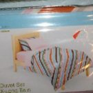 NEW PLACE SPACE DUVET SET TWIN X LONG NEW RETRO ORANGE