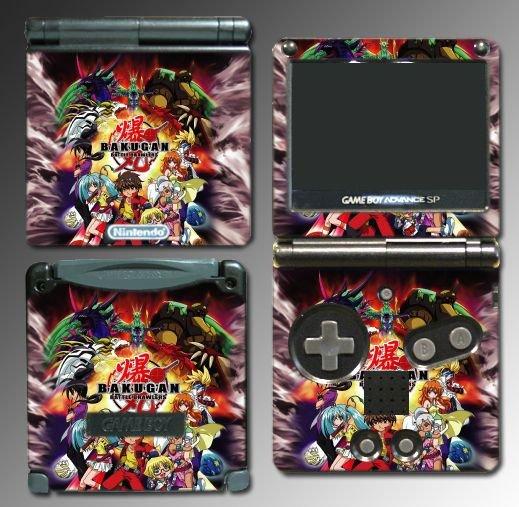 Bakugan Battle Brawlers game SKIN 2 for Nintendo GBA SP