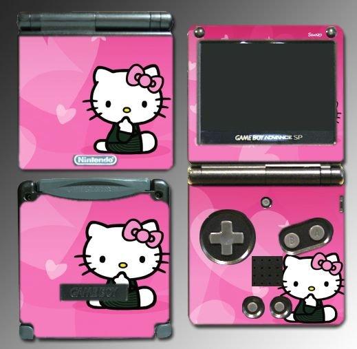 KITTY Pink Cute Girl game SKIN #4 for Nintendo GBA SP