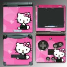 KITTY Pink Cute Girl game SKIN #4 for Nintendo GBA SP