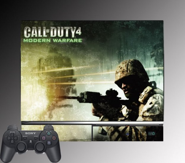 Call of Duty 4 Modern Warfare game SKIN Playstation PS3