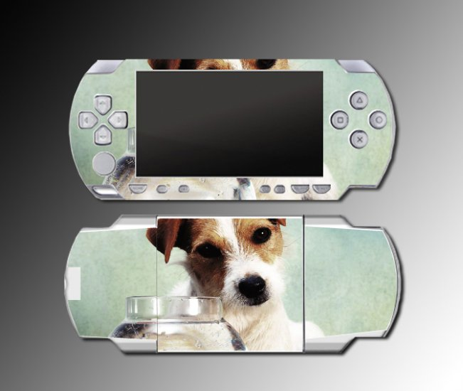 Jack Russell Terrier dog puppy SKIN case 2 for Sony PSP