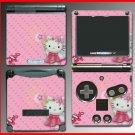 Cute Kitty Pink Princess game SKIN #1 Nintendo GBA SP
