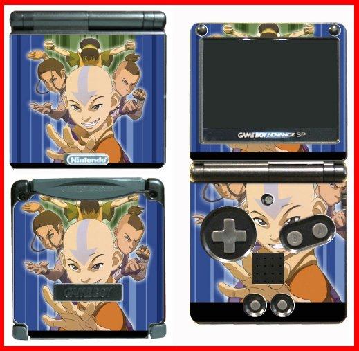 Avatar Last Airbender Game SKIN #1 for Nintendo GBA SP