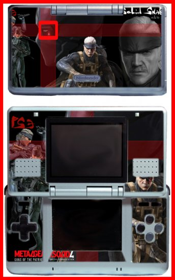 Old Snake Metal Gear Solid MGS4 SKIN #1 for Nintendo DS