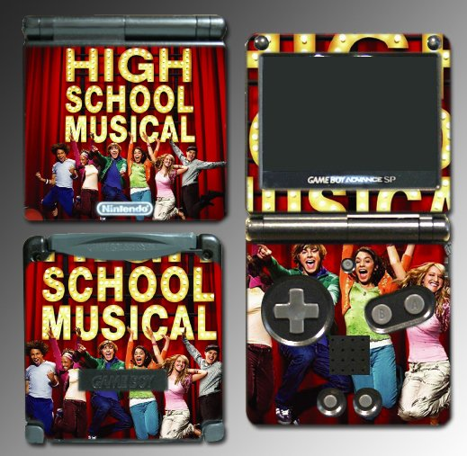 High School Musical 1 3 game SKIN 2 for Nintendo GBA SP