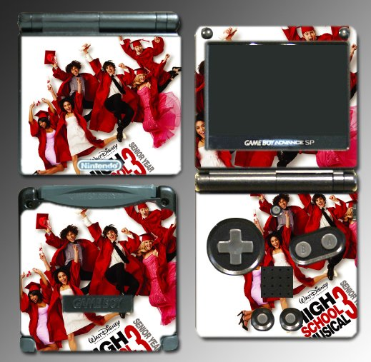 High School Musical 2 3 game SKIN #1 Gameboy Advance SP