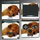 Dog Golden Retriever Puppy cute SKIN 5 Nintendo GBA SP