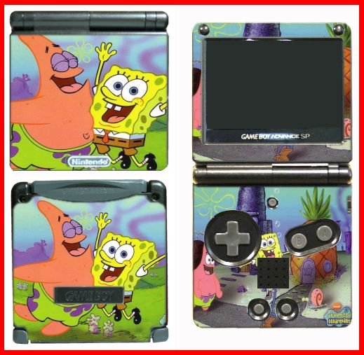 SPONGEBOB PATRICK FRIENDS SKIN #3 for GAMEBOY GBA SP