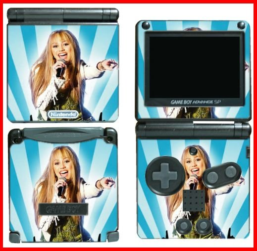 Hannah Montana Miley Cyrus SKIN #4 for GBA GAMEBOY SP