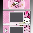 CUTE PINK KITTY BUNNY game SKIN #3 for Nintendo DS Lite