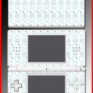 Cute Gimmo fuzzy mosaic game SKIN #2 Nintendo DS Lite