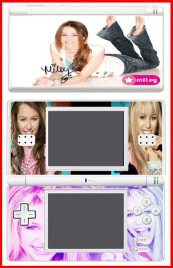Hannah Montana Miley Cyrus World Game SKIN 1 DS Lite