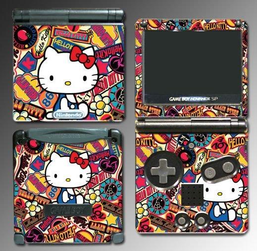 Cute Kitty Princess Pink World Skin #8 Nintendo GBA SP
