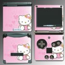 Pink Kitty Cute Princess Game Skin #5 Nintendo GBA SP