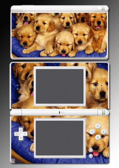 Golden Retriever puppy dog Skin 9 for Nintendo DS Lite