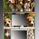 Beagle puppy family cute dog game Skin for Nintendo DSi