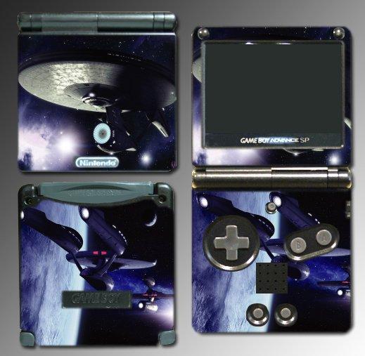 Star Trek USS Enterprise Game SKIN #2 Nintendo GBA SP
