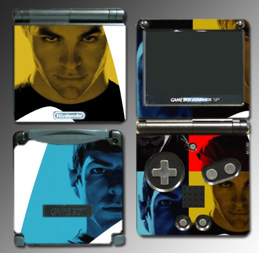 Star Trek Captain Kirk Spock Game Skin Nintendo GBA SP