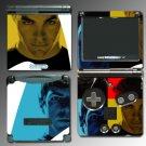 Star Trek Captain Kirk Spock Game Skin Nintendo GBA SP