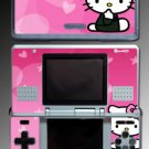 Pink Heart Cute Kitty game SKIN #4 for Nintendo DS