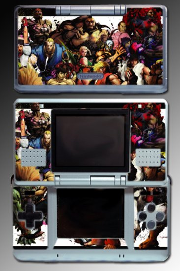 Street Fighter 4 ps3 xbox 360 game SKIN for Nintendo DS