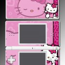 Cute Pink KITTY cartoon game SKIN #2 Nintendo DS Lite
