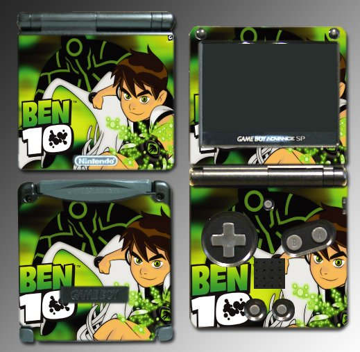 Ben 10 Alien Force cartoon game SKIN 2 Nintendo GBA SP