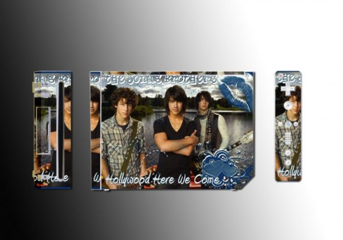 Jonas Bros Camp Rock game SKIN 4 Nintendo Wii + WIIMOTE