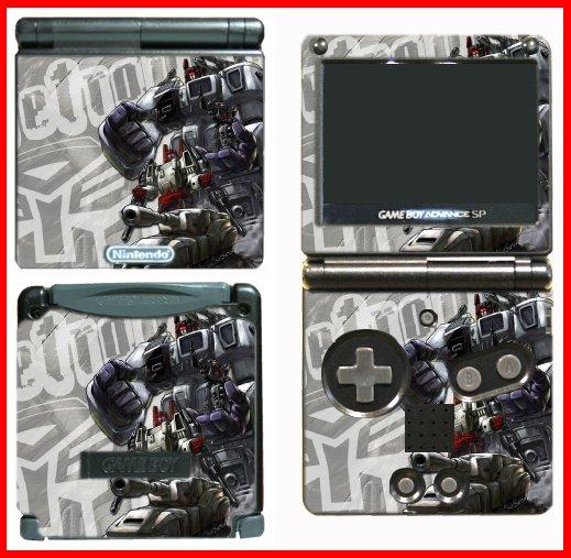 Transformers Metro Game SKIN MOD #2 for Nintendo GBA SP