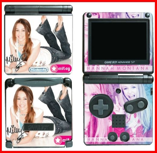 Hannah Montana Miley Cyrus SKIN #1 for GBA GAMEBOY SP