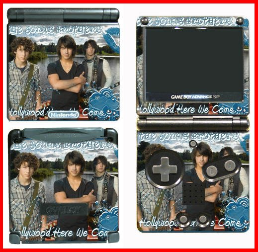 Jonas Brothers Concert Game SKIN #4 for Nintendo GBA SP