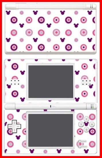 Mickey Mouse monogram pattern SKIN #1 Nintendo DS Lite