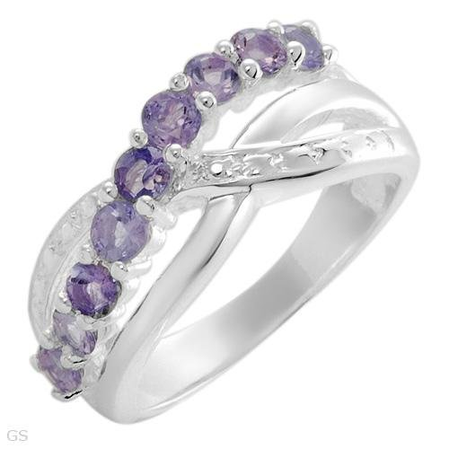 MAJESTIC STERLING SILVER RING WITH 1.08 CTW AMETHYSTS