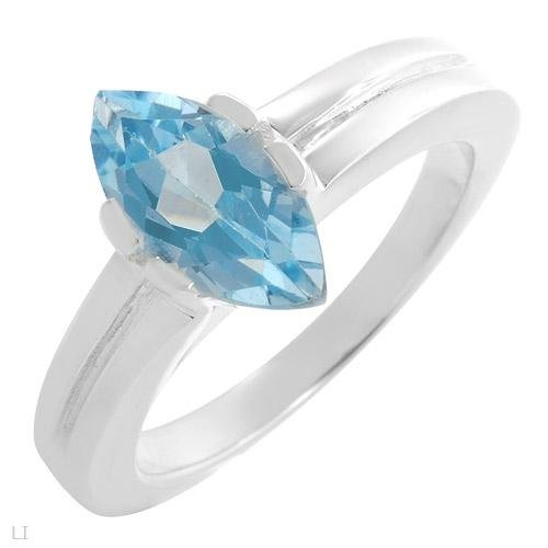 BEAUTIFUL STERLING SILVER RING WITH TOPAZ