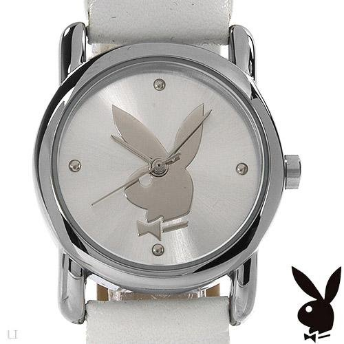 Playboy Ladies Metal Elegant Watch w/ Heart Accents