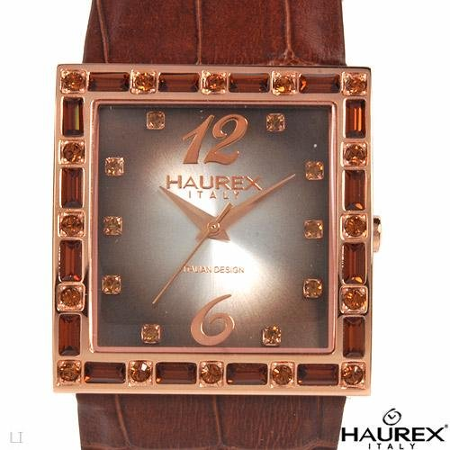 HAUREX ITALY..Crystal & Leather Beautiful Ladie's Watch