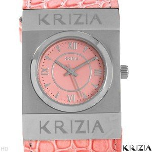 KRIZIA ITALY  Really Cool Pink Leather Ladies Watch