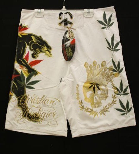 CHRISTIAN AUDIGIER REALLY NICE PANTHER BOARD SHORTS