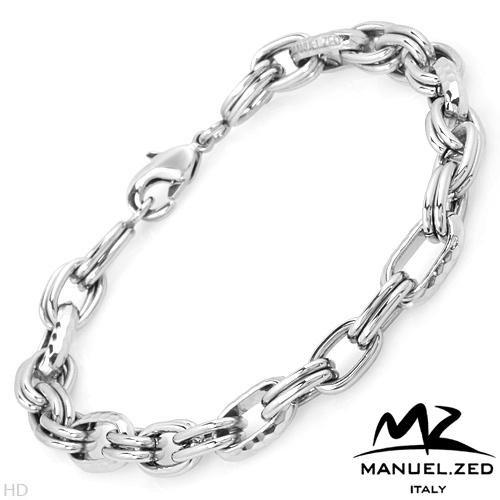 MANUEL ZED Made in Italy:Stainless Steel Link Bracelet