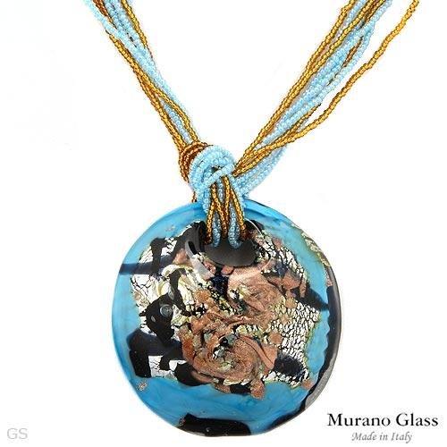 MURANO GLASS Made In Italy Beautiful Necklace Handmade